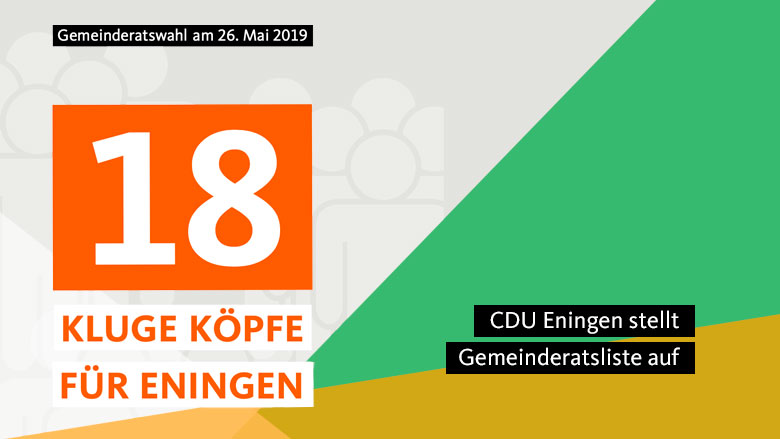 Unsere Gemeinderatsliste: 18 kluge Köpfe für Eningen